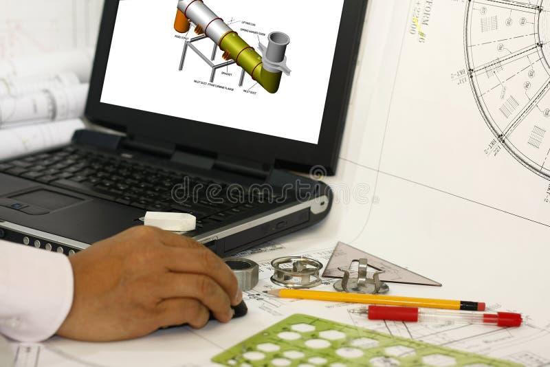 塑造工作的3d 免版税库存图片