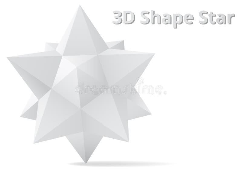 塑造星3D样式 向量例证