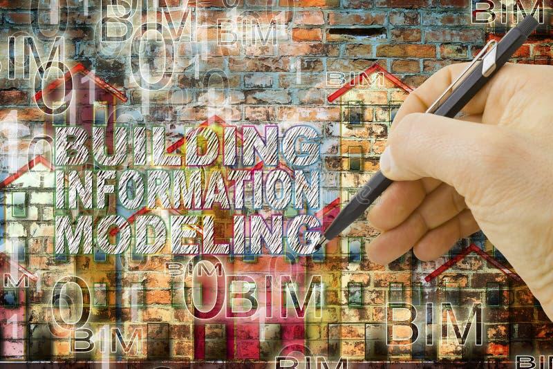 塑造BIM -一个新的方式的大厦信息设计 免版税库存照片