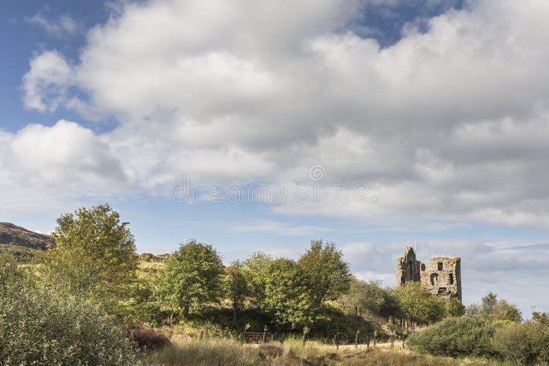 塔伯特城堡在Argyll,苏格兰 免版税库存图片