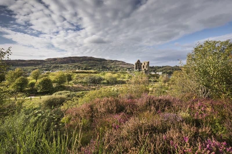 塔伯特城堡在Argyll,苏格兰 免版税库存照片