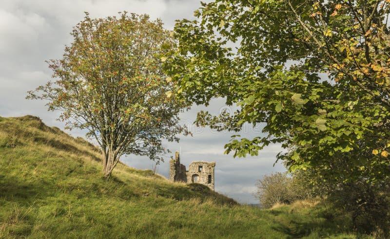 塔伯特城堡在Argyll,苏格兰 库存照片