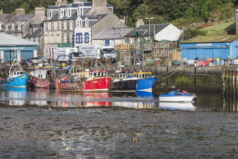 塔伯特港口在Argyll,苏格兰 图库摄影