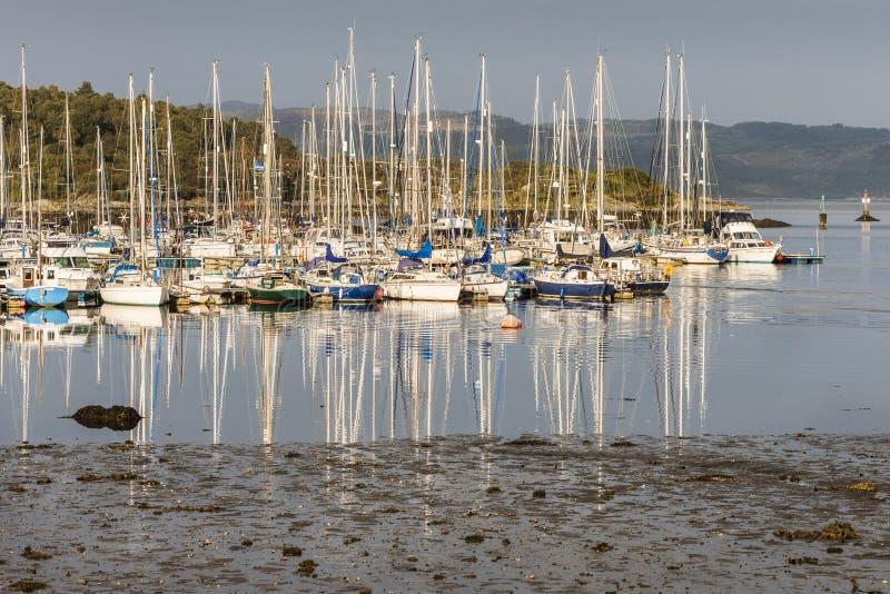 塔伯特港口在Argyll,苏格兰 库存照片