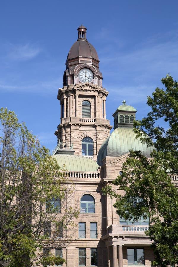 塔兰特县法院大楼在城市沃思堡 免版税库存图片