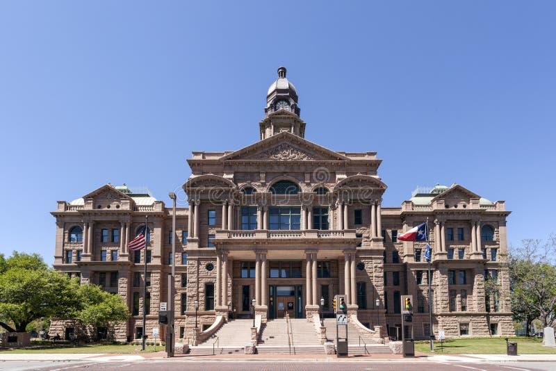 塔兰特县法院大楼在沃思堡,美国 库存照片