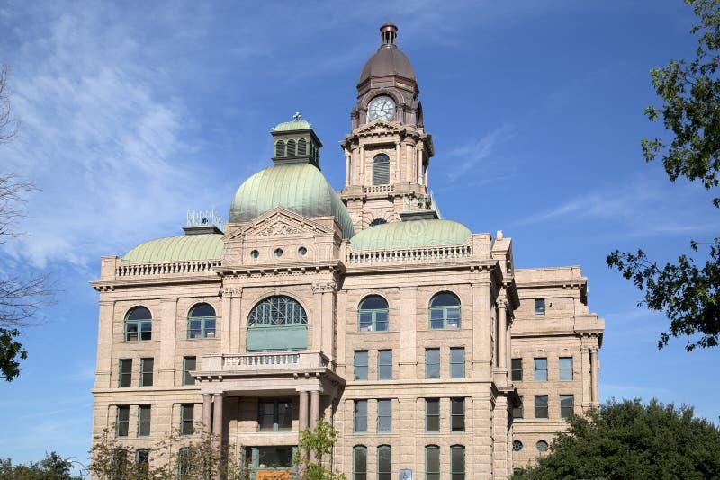 塔兰特县法院大楼在沃思堡 库存图片