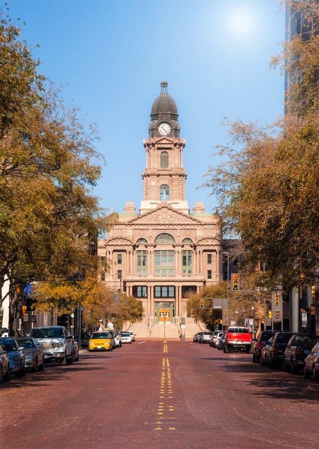 塔兰特县法院大楼在沃斯堡得克萨斯 免版税库存照片