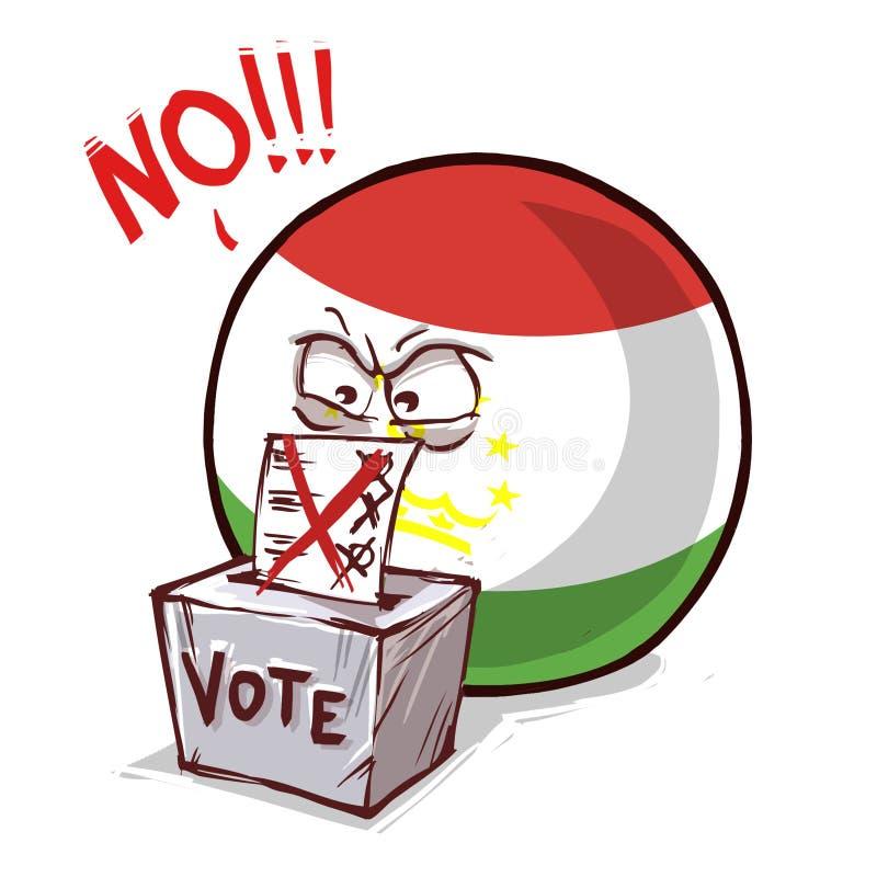 塔吉克斯坦投反对票国家的球 库存例证