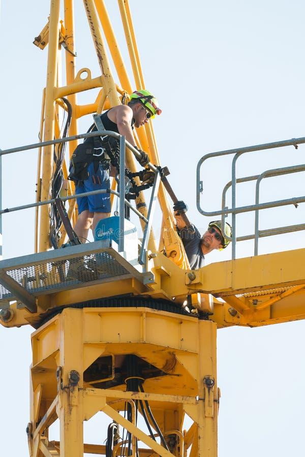 塔吊撤除 图库摄影