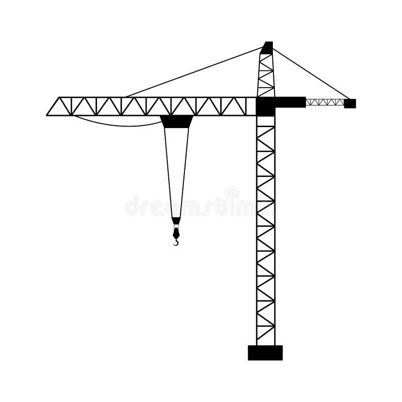 塔吊被隔绝的平的设计 皇族释放例证