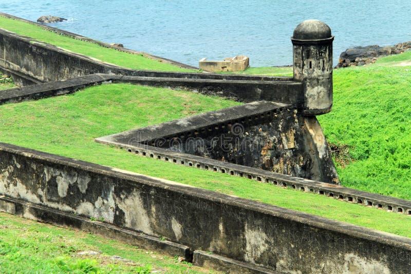 塔和墙壁 免版税库存图片