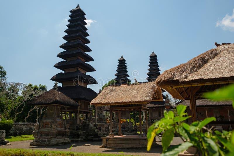塔和密室巴厘岛塔曼Ayun寺庙的  图库摄影