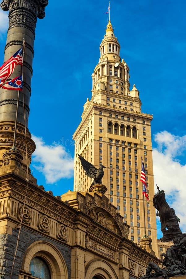 塔和纪念碑 库存照片