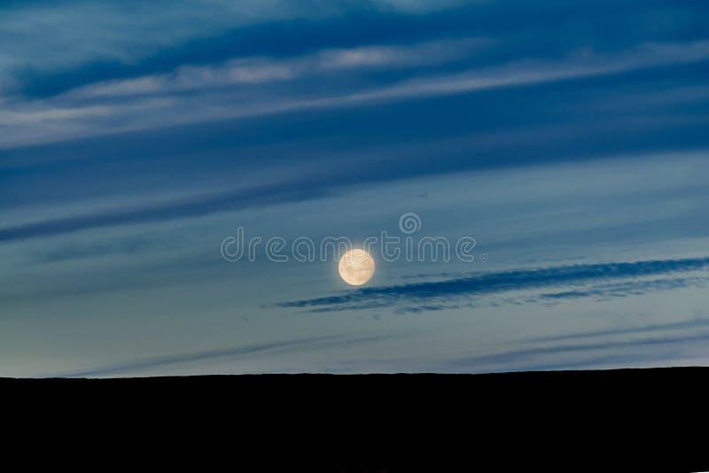 巴塔哥尼亚风景Moonscape场面,阿根廷 免版税库存照片