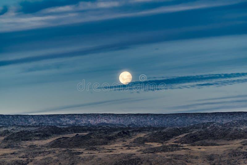 巴塔哥尼亚风景Moonscape场面,阿根廷 免版税图库摄影