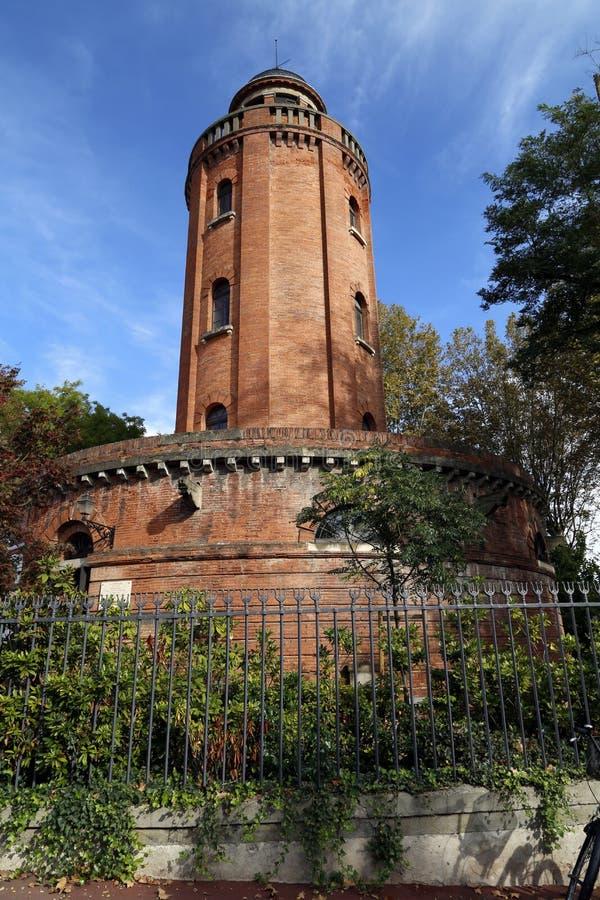 水塔在图卢兹 库存图片
