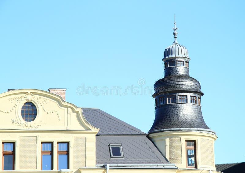 塔在奥帕瓦河 库存照片