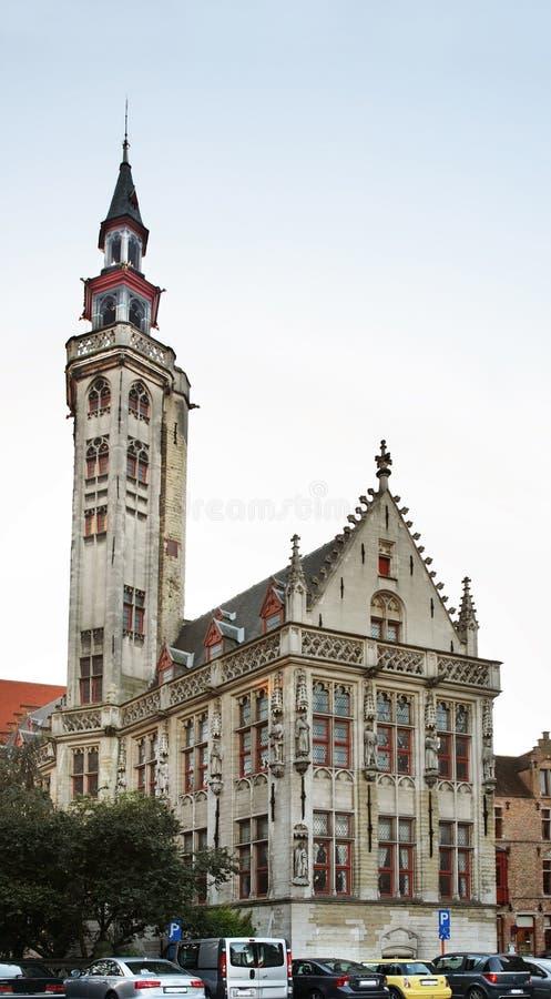 塔在布鲁日 富兰德 比利时 免版税库存图片