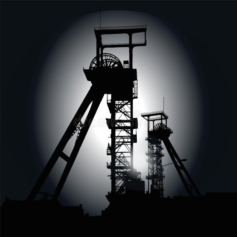 绕塔在晚上 皇族释放例证