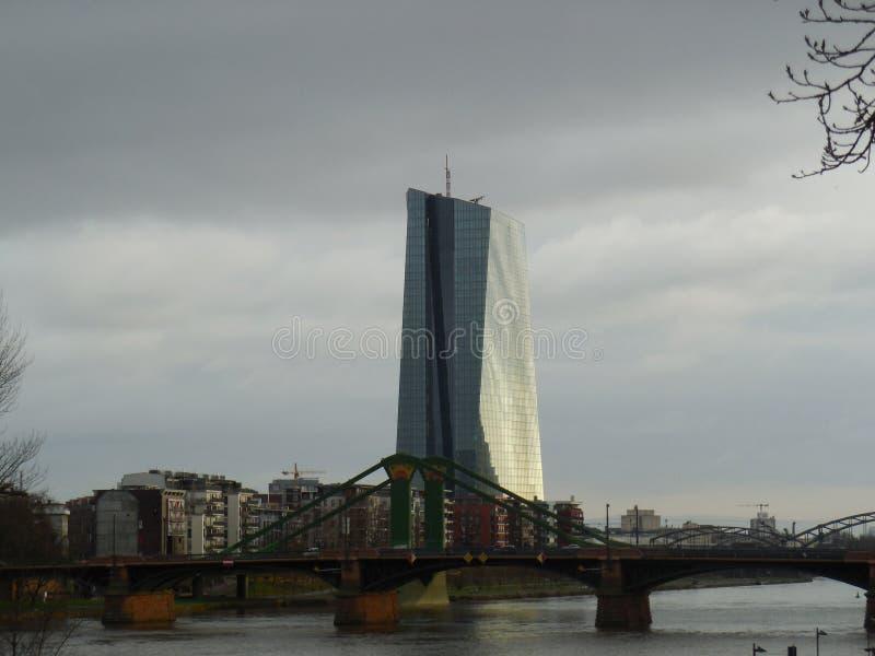塔在法兰克福,德国 库存照片