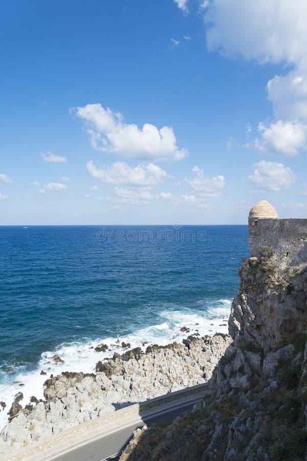 塔在罗希姆诺Fortezza  Fortezza是市的城堡罗希姆诺在克利特,希腊 库存图片