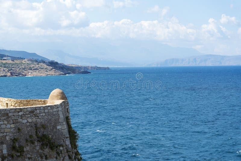 塔在罗希姆诺Fortezza  Fortezza是市的城堡罗希姆诺在克利特,希腊 库存照片