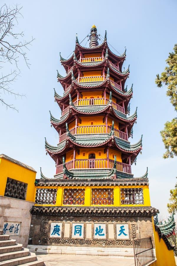 塔在金山寺 免版税库存照片