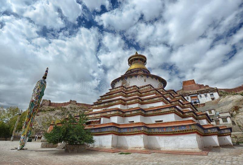 塔寺庙在西藏 库存图片