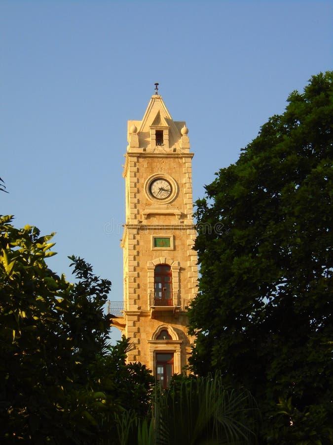 塔尔尖沙嘴钟楼在的黎波里黎巴嫩 库存照片