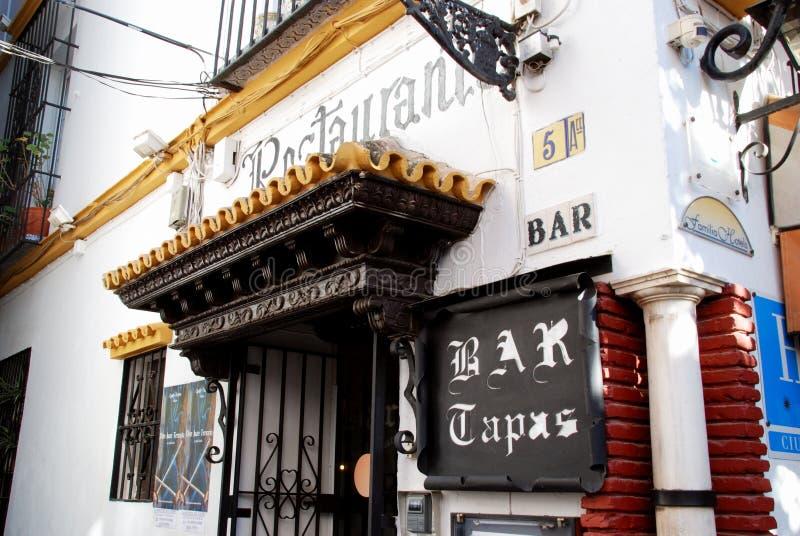 塔帕纤维布禁止,塞维利亚,西班牙。 免版税图库摄影