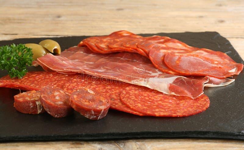 塔帕纤维布肉选择 库存照片