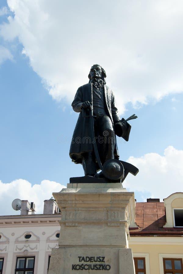 塔德乌什Kosciuszko雕象- Rzeszow -波兰 免版税库存图片