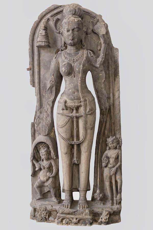 塔拉加州 11世纪,玄武岩,Kurkihar,比哈尔省 库存图片