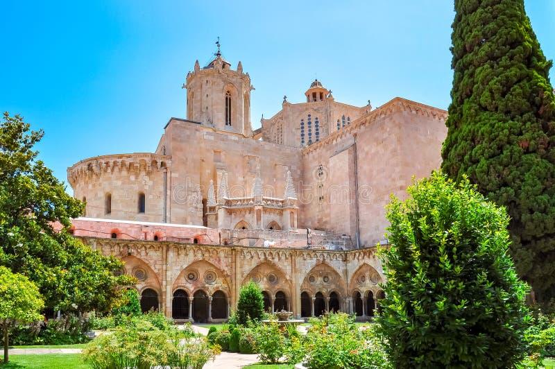 塔拉贡纳大教堂卡特德拉尔de塔拉贡纳,西班牙 库存图片