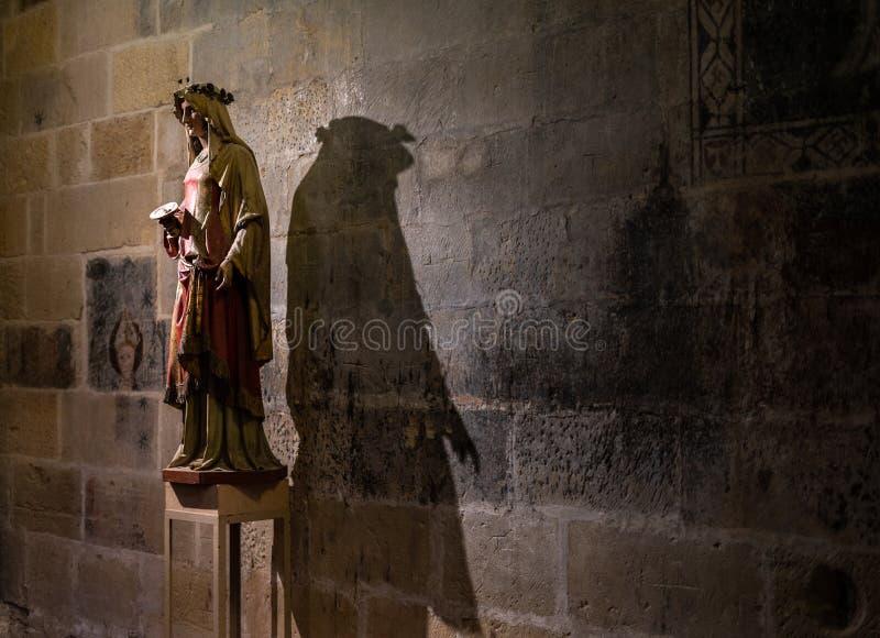 塔拉贡纳大教堂,在卡塔龙尼亚 免版税图库摄影