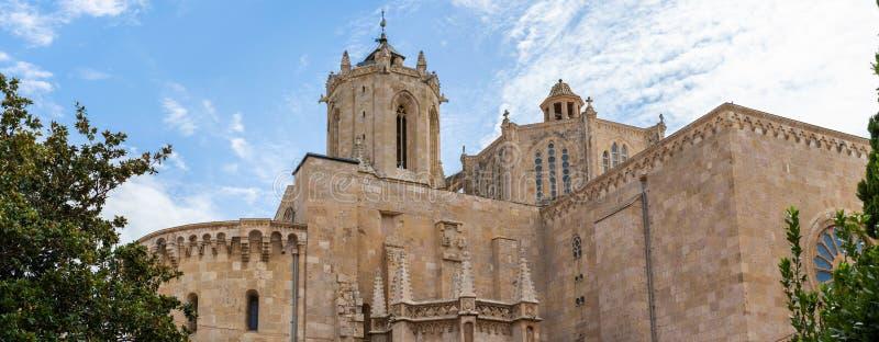 塔拉贡纳大教堂,在卡塔龙尼亚 库存图片