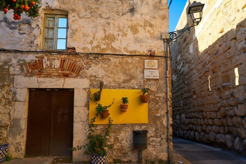 塔拉贡纳老Tarraco街道在加泰罗尼亚 免版税图库摄影