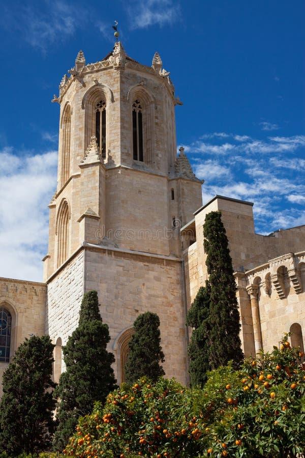塔拉贡纳大教堂塔  免版税库存照片