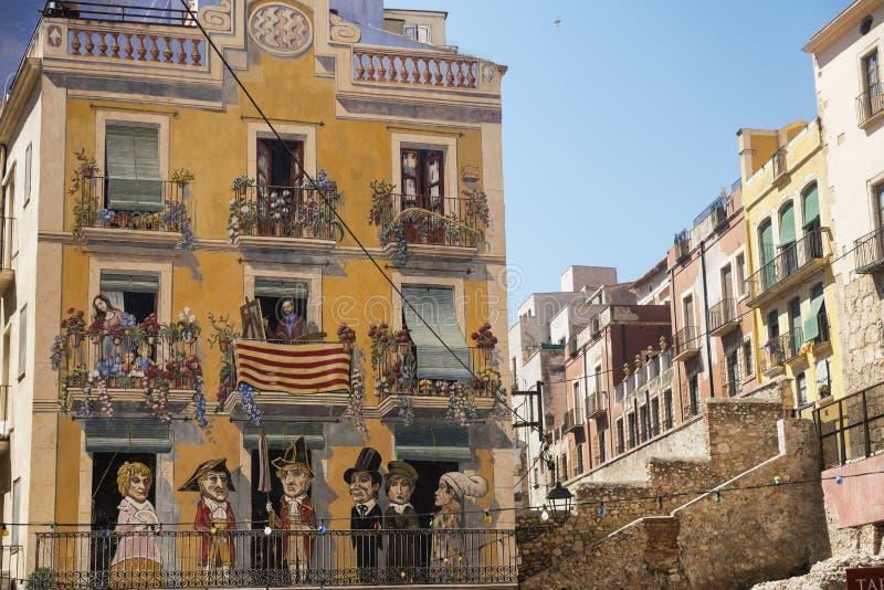 塔拉贡纳(西班牙) :老街道 免版税库存图片