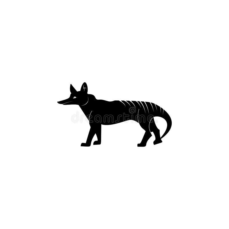 塔斯马尼亚的狼象 澳大利亚象动物区系的元素  优质质量图形设计象 婴孩标志,概述标志col 向量例证