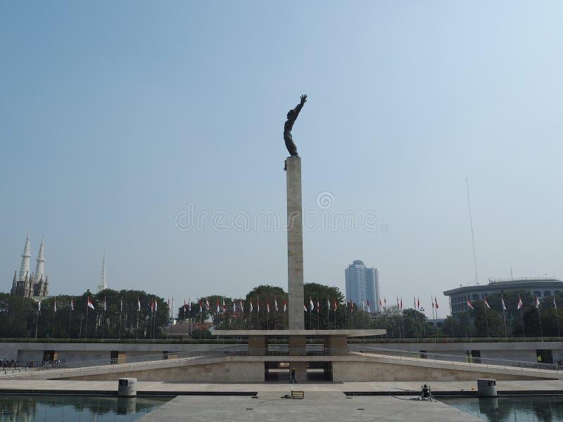 塔曼Lapangan Banteng,雅加达 免版税库存图片