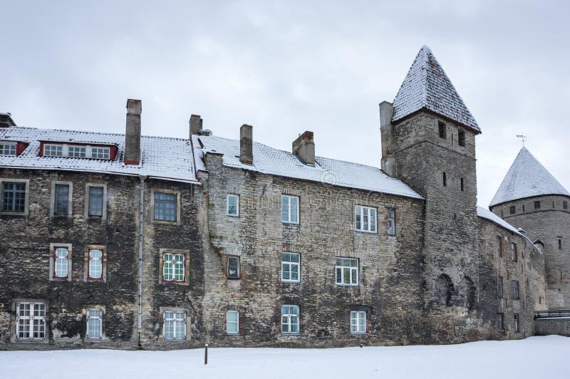 塔林堡垒墙壁  库存图片