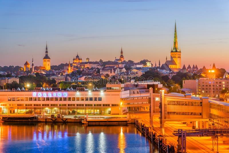 塔林,爱沙尼亚码头 库存图片