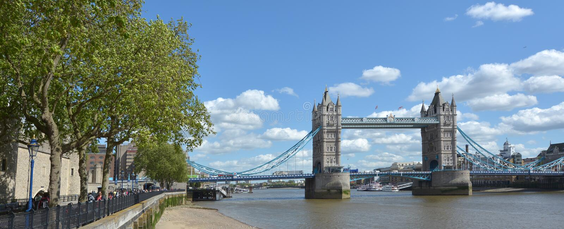 塔桥梁在伦敦-英国英国 库存图片