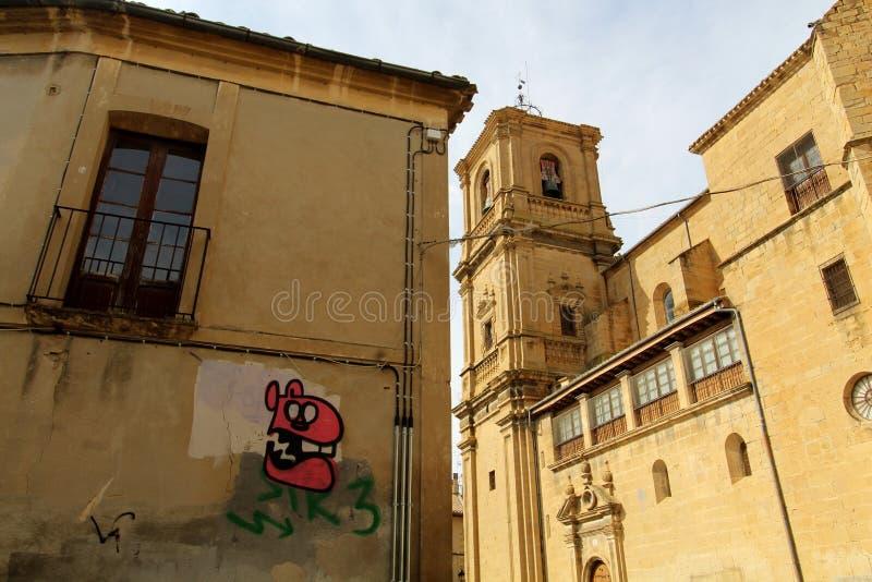 塔法利亚 Capital de la Navarra媒介 库存照片