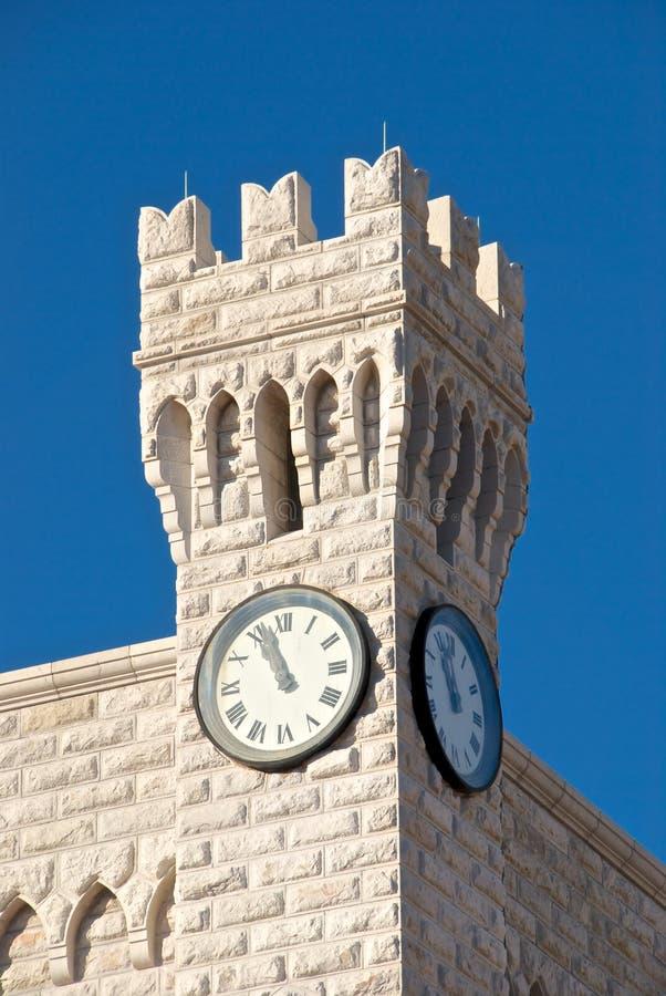塔的时钟 免版税图库摄影