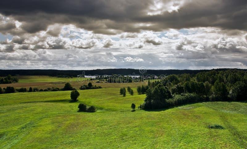 从塔的看法,立陶宛2 库存照片