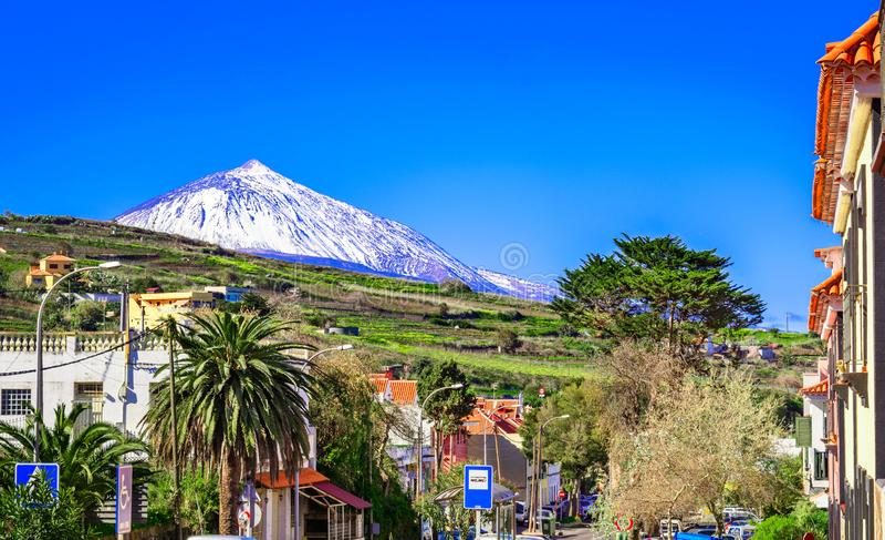 塔科龙特,特内里费岛,加那利群岛,西班牙:塔科龙特街道  免版税库存图片