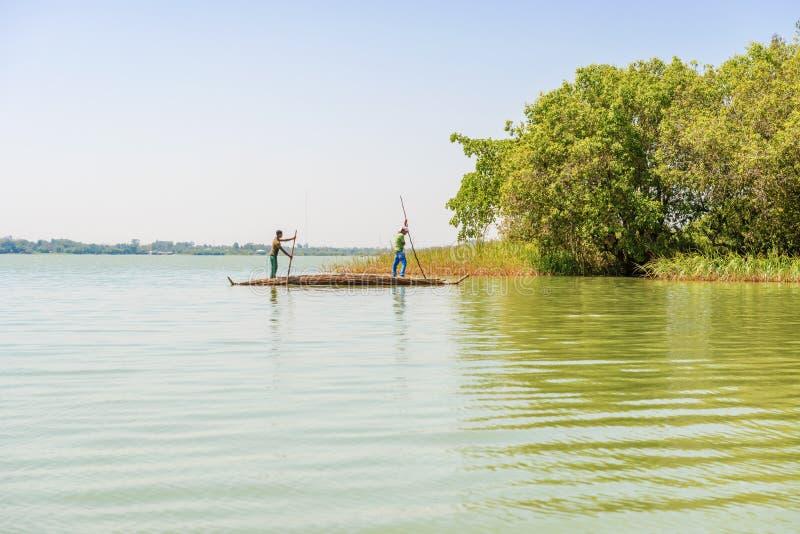 塔纳湖在埃塞俄比亚 免版税图库摄影